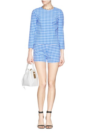 Figure View - Click To Enlarge - DIANE VON FURSTENBERG - 'Giselle' gingham check print top