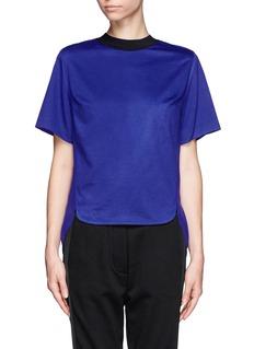 3.1 PHILLIP LIMPurple jersey front silk top