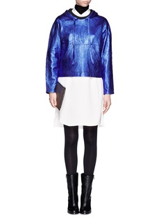 3.1 PHILLIP LIMMetallic leather sweatshirt