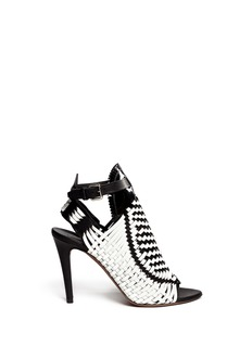 PROENZA SCHOULER Woven patent leather sandals