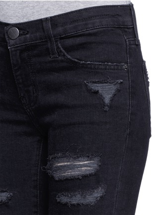 Detail View - Click To Enlarge - Current/Elliott - 'The Stiletto' ripped skinny jeans