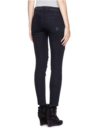 Back View - Click To Enlarge - Current/Elliott - 'The Stiletto' ripped skinny jeans