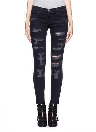 Main View - Click To Enlarge - Current/Elliott - 'The Stiletto' ripped skinny jeans