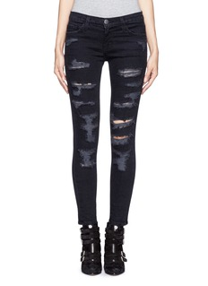 CURRENT/ELLIOTT 'The Stiletto' ripped skinny jeans