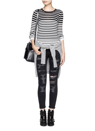 Figure View - Click To Enlarge - Current/Elliott - 'The Stiletto' ripped skinny jeans