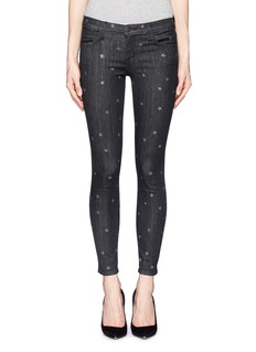 CURRENT/ELLIOTT 'The Stiletto' star print washed jeans