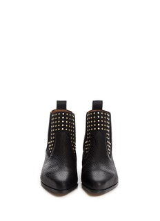 CHLOÉ Stud leather Chelsea ankle boots