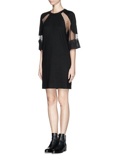 SEE BY CHLOÉ Lace panel wool dress