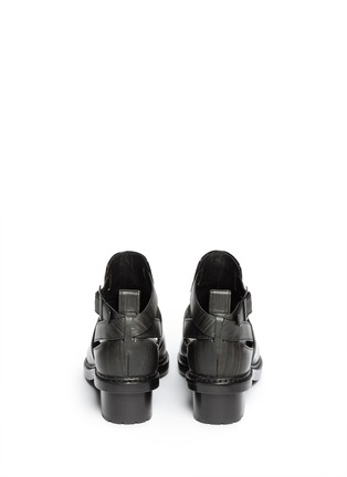 Back View - Click To Enlarge - 3.1 Phillip Lim - 'Ferdinand' cutout leather ankle boots