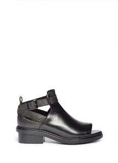 3.1 PHILLIP LIM 'Ferdinand' cutout leather ankle boots