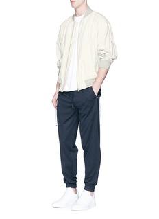 Feng Chen WangDrawstring side elastic cuff jogging pants