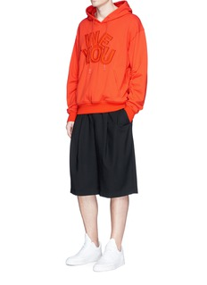 Feng Chen Wang 'WE YOU' padded appliqué drawstring trim hoodie