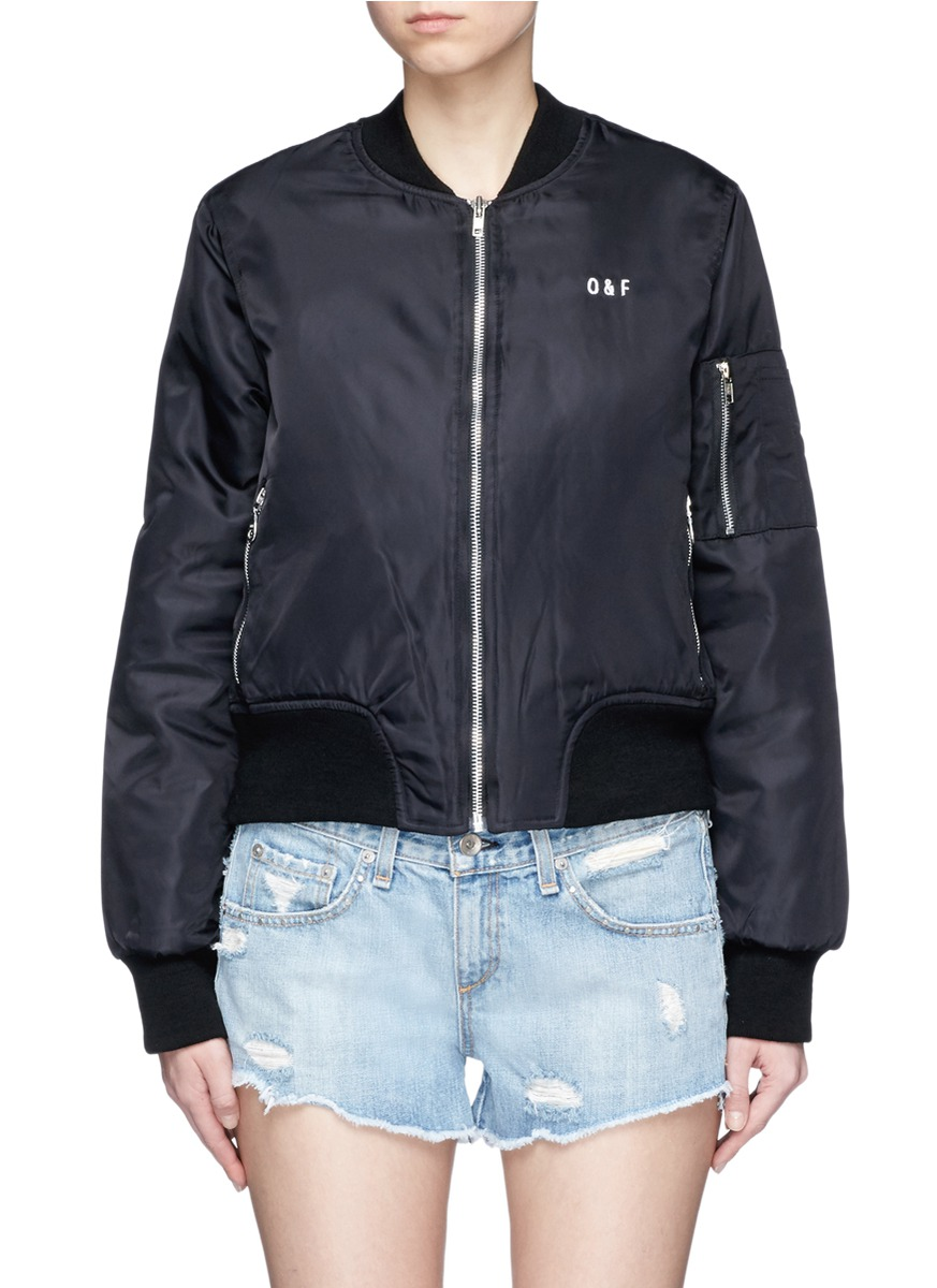 Girl Power embroidered padded MA-1 bomber jacket by Olive and Frank