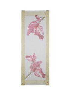Faliero Sarti'Betulla' satin trim floral print voile scarf