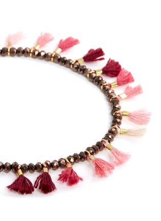 Detail View - Click To Enlarge - Shashi - 'Jaime' tassel beaded bracelet