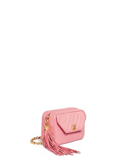 Vintage ChanelQuilted leather tassel chain bag