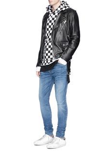 AmiriCheck print zip pocket hoodie