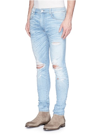 Front View - Click To Enlarge - Amiri - 'Shotgun' ripped skinny jeans