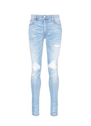Main View - Click To Enlarge - Amiri - 'Shotgun' ripped skinny jeans
