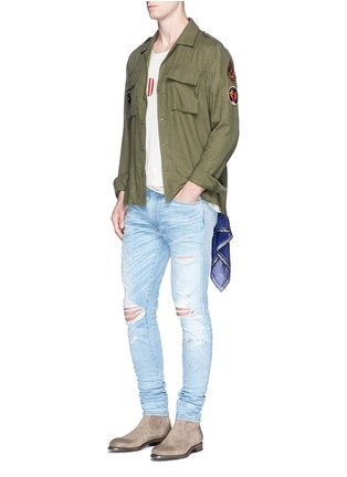 Figure View - Click To Enlarge - Amiri - 'Shotgun' ripped skinny jeans