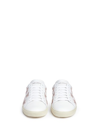 Front View - Click To Enlarge - Saint Laurent - 'Signature Court Classic California' star patch leather sneakers