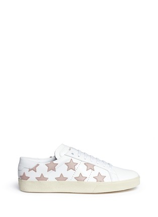 Main View - Click To Enlarge - Saint Laurent - 'Signature Court Classic California' star patch leather sneakers
