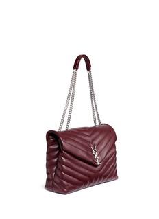 Saint Laurent'Medium Loulou Monogram' matelassé leather chain bag