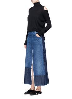 TomePatchwork denim skirt