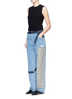 Tome Denim patchwork jeans