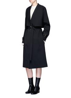 Rosetta GettyVirgin wool twill belted trench coat