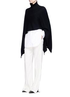 Rosetta GettyWool-cashmere cape sweater