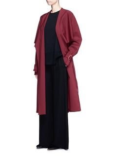 Rosetta Getty Virgin wool twill belted trench coat