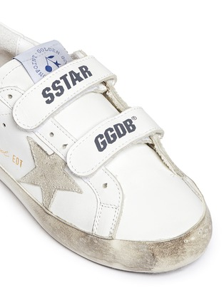 Detail View - Click To Enlarge - Bonpoint - x Golden Goose 'Tennis' star patch leather kids sneakers