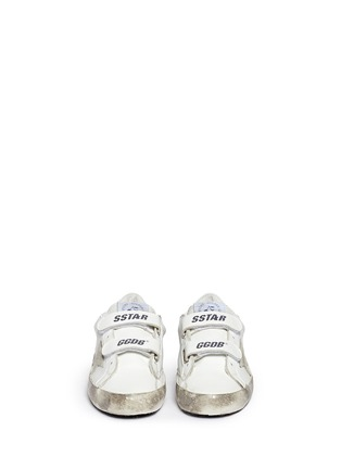 Figure View - Click To Enlarge - Bonpoint - x Golden Goose 'Tennis' star patch leather kids sneakers
