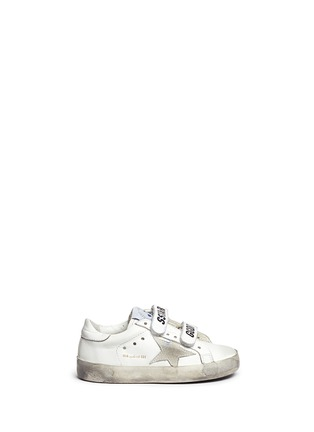 Main View - Click To Enlarge - Bonpoint - x Golden Goose 'Tennis' star patch leather toddler sneakers