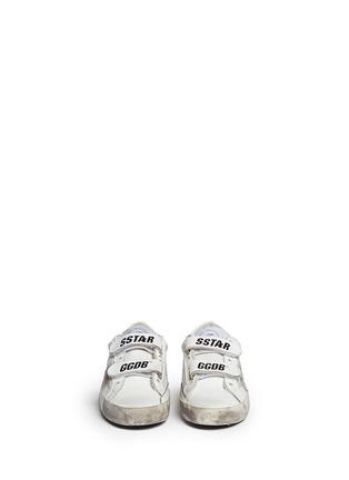 Figure View - Click To Enlarge - Bonpoint - x Golden Goose 'Tennis' star patch leather toddler sneakers