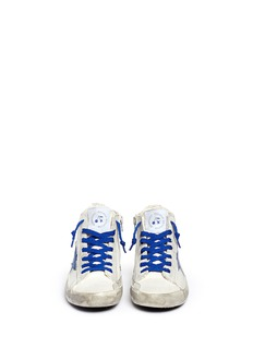 Bonpoint x Golden Goose 'Tennis' suede trim canvas kids sneakers