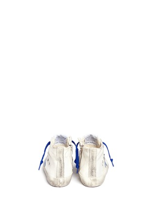 Back View - Click To Enlarge - Bonpoint - x Golden Goose 'Tennis' suede trim canvas toddler sneakers