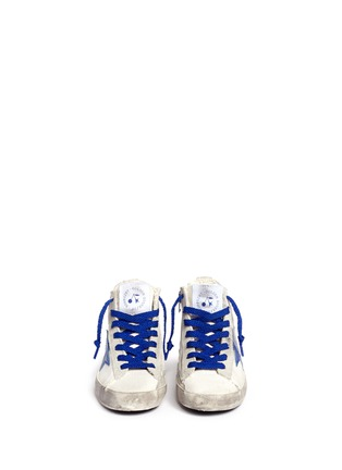 Figure View - Click To Enlarge - Bonpoint - x Golden Goose 'Tennis' suede trim canvas toddler sneakers