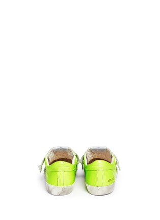 Back View - Click To Enlarge - Bonpoint - x Golden Goose 'Tennis' neon leather kids sneakers