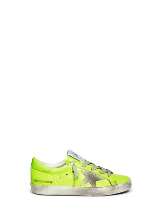 Main View - Click To Enlarge - Bonpoint - x Golden Goose 'Tennis' neon leather kids sneakers