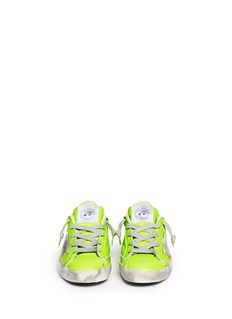 Bonpoint x Golden Goose 'Tennis' neon leather kids sneakers
