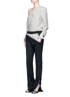 Monse Button cuff virgin wool blend tuxedo pants