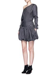 MonsePinstripe silk twill bubble skirt