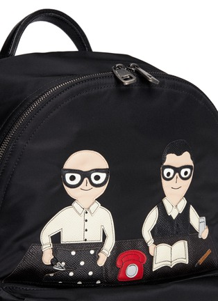 Detail View - Click To Enlarge - Dolce & Gabbana - 'Vulcano' designer appliqué backpack