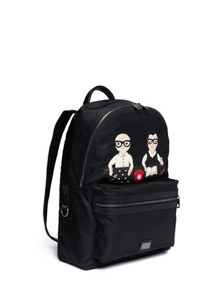 Front View - Click To Enlarge - Dolce & Gabbana - 'Vulcano' designer appliqué backpack