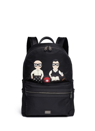 Main View - Click To Enlarge - Dolce & Gabbana - 'Vulcano' designer appliqué backpack