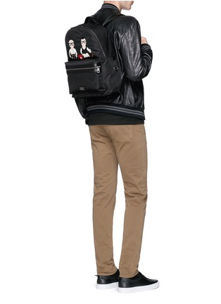 Figure View - Click To Enlarge - Dolce & Gabbana - 'Vulcano' designer appliqué backpack