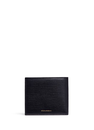 Back View - Click To Enlarge - Dolce & Gabbana - Sicilian Man appliqué leather bifold wallet