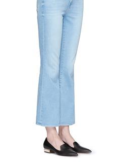 Nicholas Kirkwood 'Casati' faux pearl heel leather skimmer loafers